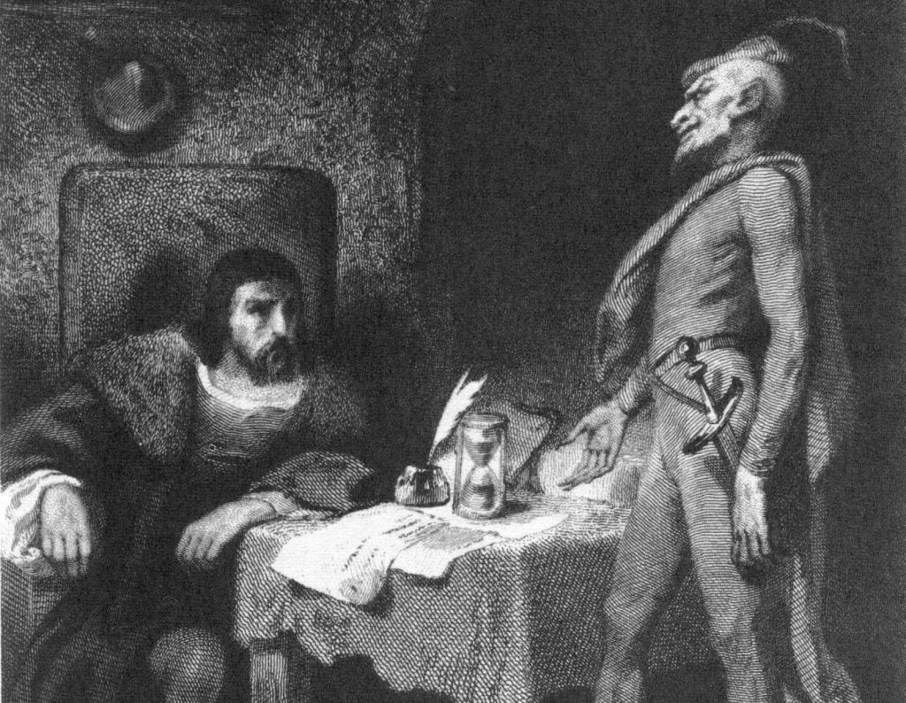 Faust und Mephisto (1845/47), Stich von Tony Johannot