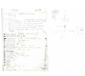 Sitzungsprotokoll der PERSPEKTIVE-Redaktion vom 3.8.1988, Manuskript, 2 Bl., aus dem gangan-Verlagsarchiv am Franz-Nabl-Institut für Literaturforschung.