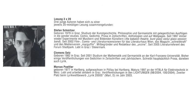 Leporello, Literaturhaus Graz, 2005