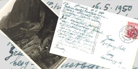 Ansichtskarte Viktor Geramb an Franz Nabl