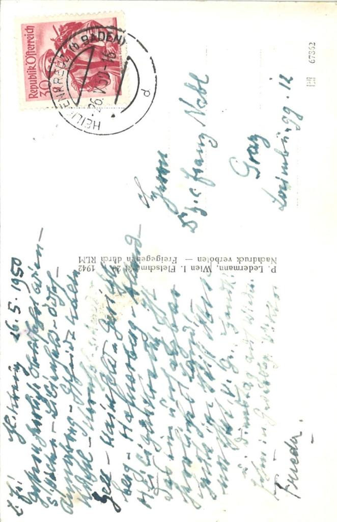 Postkarte rück